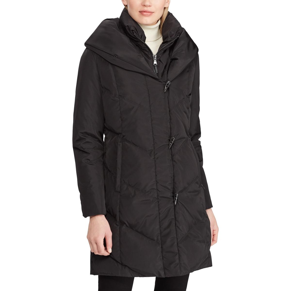 Пальто La Redoute С капюшоном на молнии M черный цены