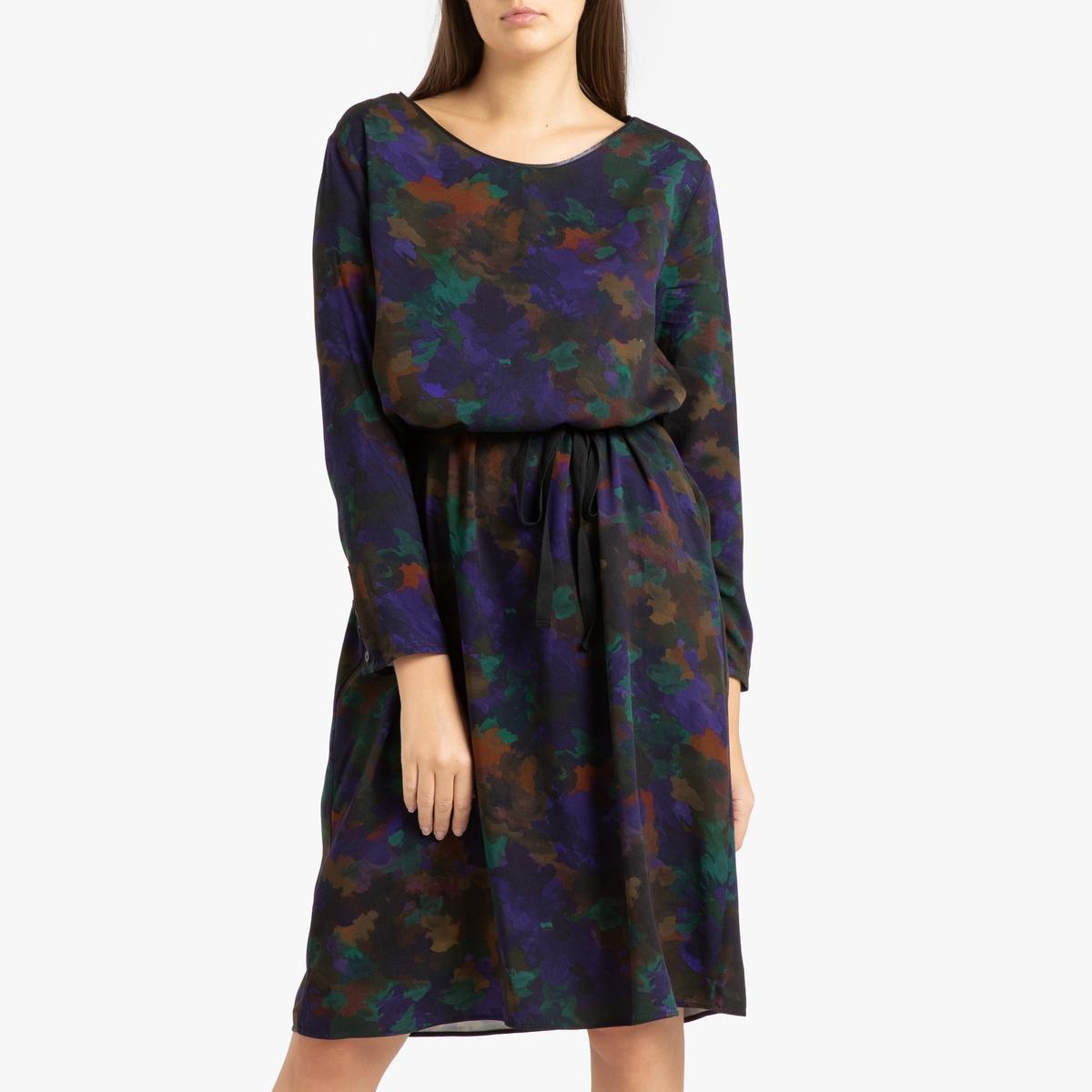 Платье La Redoute С рисунком INES M каштановый ines de la fressange блузка
