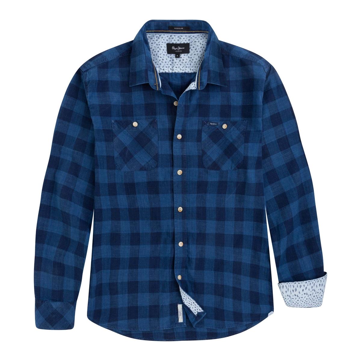 Camisa ALBANY recto a cuadros, 100% algodón