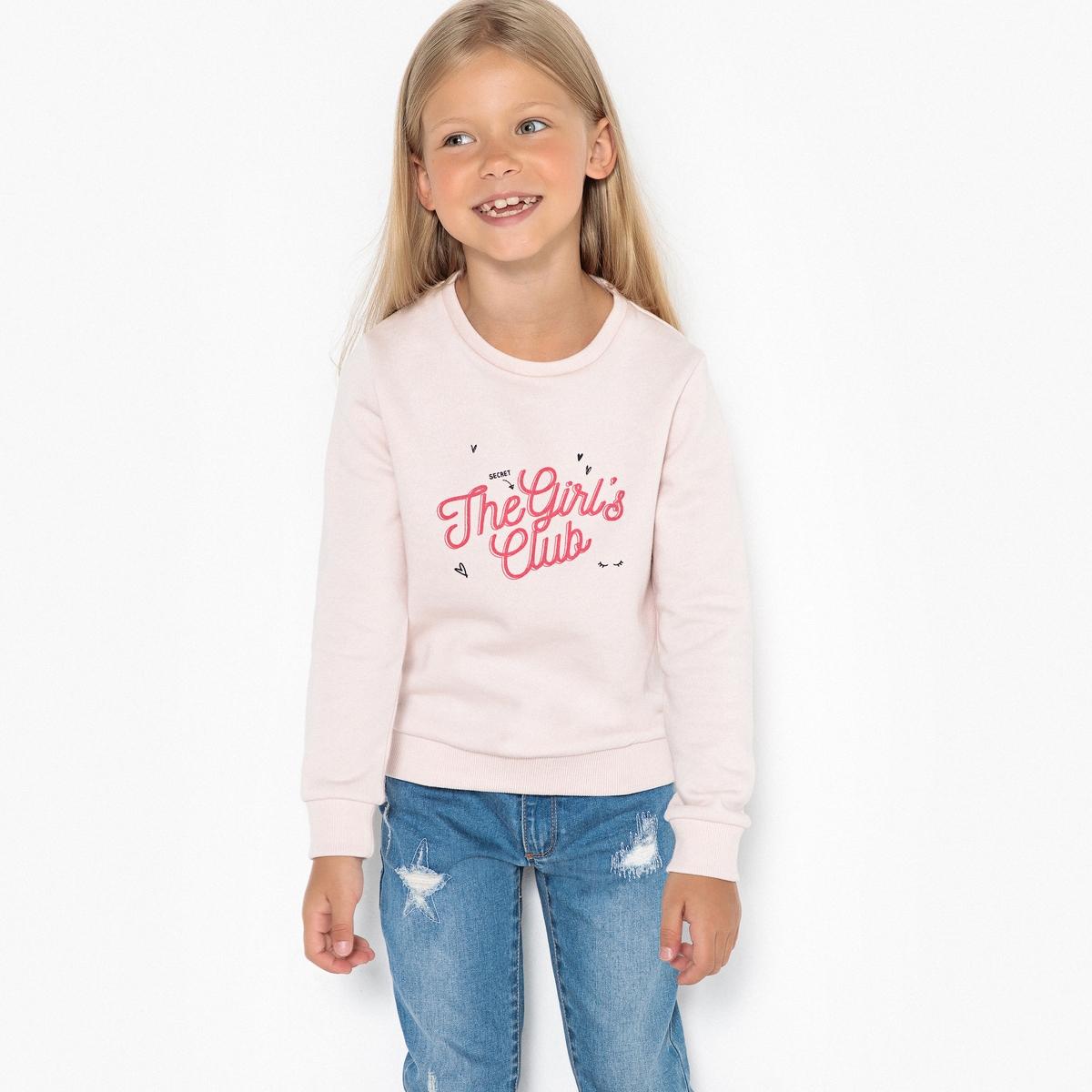 Свитшот из мольтона girls club 3-12 лет бермуды из мольтона с рисунком на 3 12 лет