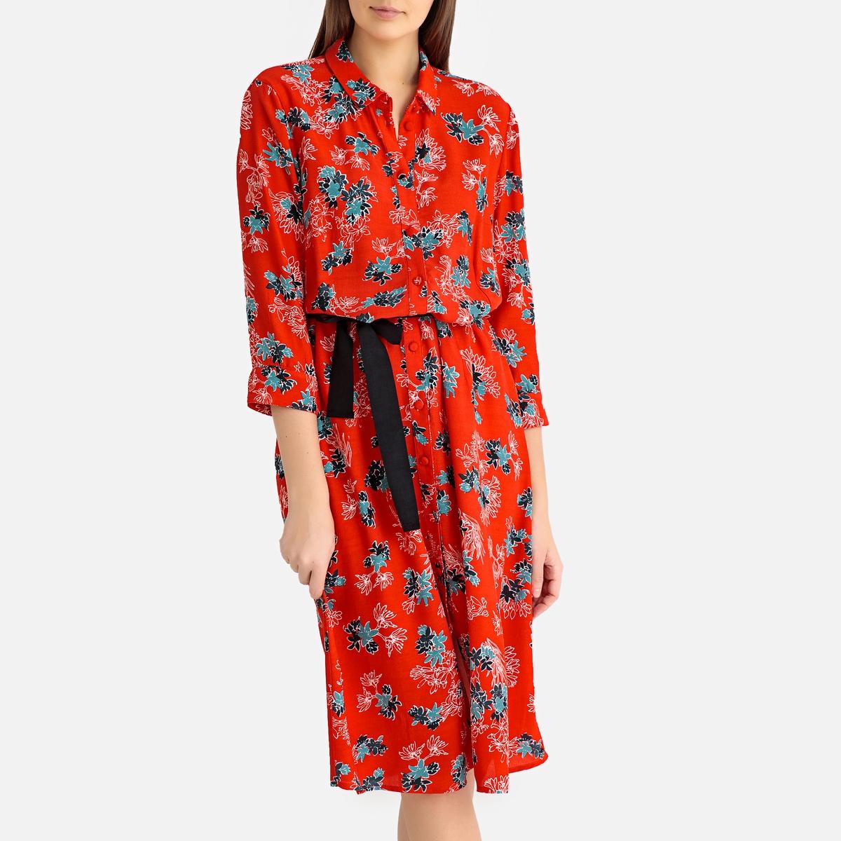 Платье La Redoute С рисунком AMY XS красный цена