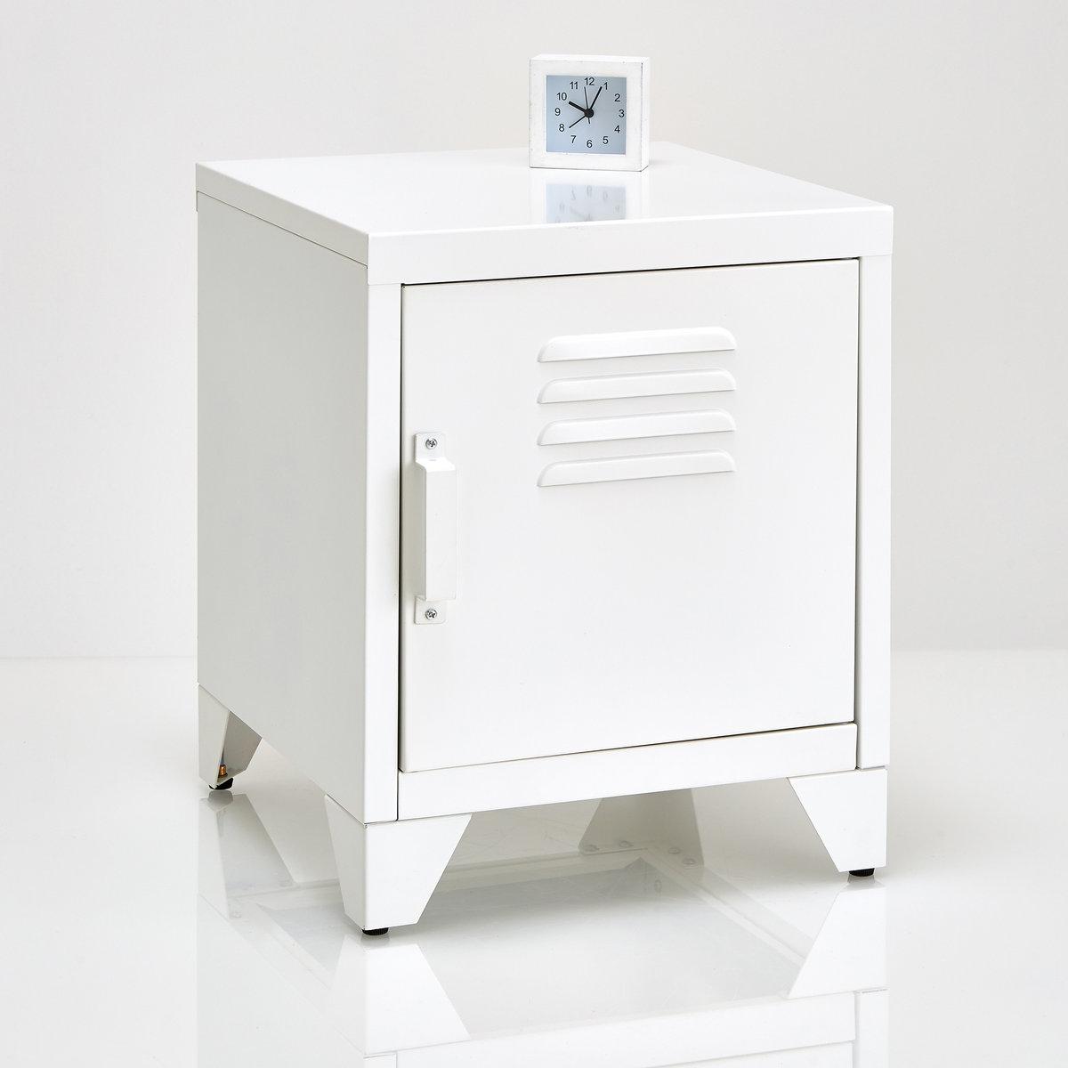 Столик прикроватный металлический HibaМеталлический прикроватный столик с 1 дверцей  Hiba. Прекрасный прикроватный столик Hiba в модной симпатичной цветовой гамме и индустриальном стиле.Описание металлического прикроватного столикаHiba :1 дверца .1 съемная этажерка внутри.Характеристики  :Металл с эпоксидным покрытием .Откройте для себя всюколлекцию Hiba на сайте laredoute.ru.Размеры :Общие :Ширина : 40 смВысота : 50 смГлубина : 40 смНастенная полка : Шир. 35,6 x Шд. 39,7 смНожки : Выс. 8,5 смРазмеры и вес упаковки :1 упаковкаШир. 49 x Выс. 23 x Гл. 46,5 см 9,7 кг Доставка :Поставляется в разобранном виде . Возможна доставка на дом !Внимание ! Убедитесь, что посылку возможно доставить на дом, учитывая ее габариты (двери, лестницы, лифт).<br><br>Цвет: белый<br>Размер: единый размер