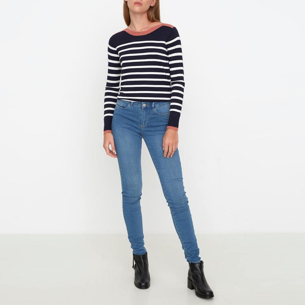 Джинсы узкие со стандартной талиейМатериал : 27% вискозы, 41% хлопка, 2% эластана, 30% полиэстера    Высота пояса : стандартная  Покрой джинсов : узкий  Длина джинсов : длина 34<br><br>Цвет: голубой<br>Размер: S