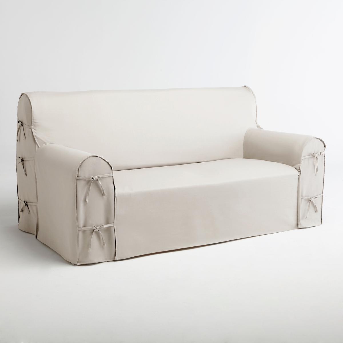 Чехол для диванаЧехол для дивана, 100% хлопка, великолепные цвета!   Характеристики чехла для дивана:Практичный чехол для дивана, регулируется завязками. Красивая плотная ткань, 100% хлопок (220 г/м?).Обработка против пятен.Простой уход : стирка при 40°, превосходная стойкость цвета.Размеры чехла для дивана:Общая высота: 102 см.Глубина сиденья: 60 см.Высота : подлокотник 66 см.3 модели на выбор : - 2-местн. : шир.142 см макс.,- 2-3 местн. : шир. 180 см макс.,- 3-местн. : шир. 206 см макс..Сверьте размеры перед заказом !Качество VALEUR S?RE.Сертфикат Oeko-Tex® дает гарантию того, что товары изготовлены без применения химических средств и не представляют опасности для здоровья человека  .<br><br>Цвет: белый,вишневый,медовый,серо-коричневый,серый жемчужный,сине-зеленый,синий индиго,сливовый,темно-серый,черный,экрю<br>Размер: 3 местн..2/3 мест.2 места.2/3 мест.3 местн..3 местн..2 места