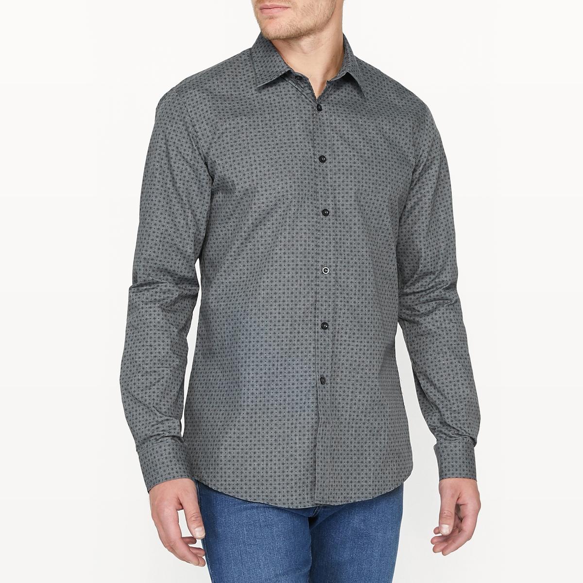 Рубашка узкая с принтом ostin рубашка с новогодним принтом