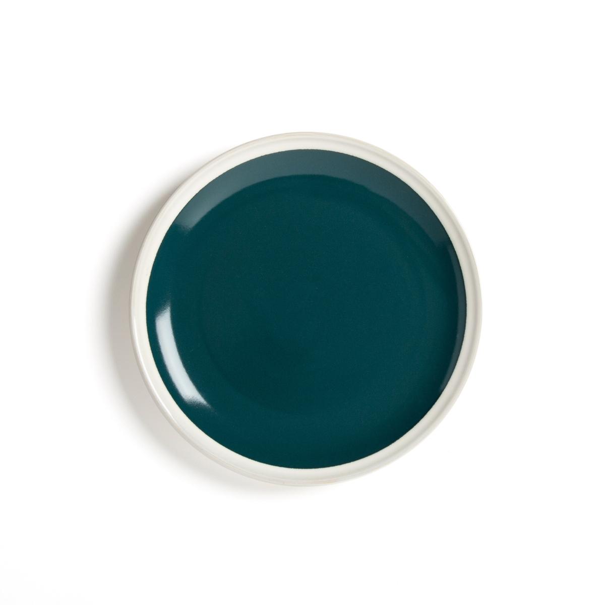 Фото - Комплект из 4 десертных тарелок LaRedoute Из керамики DEONIE единый размер зеленый 4 десертные laredoute тарелки из глазурованной керамики anika единый размер серый