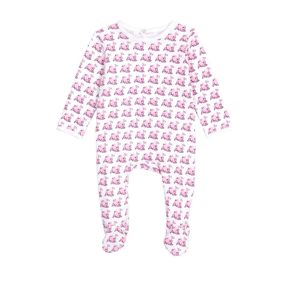 Pyjama bébé en coton bio - Imprimé Chameau