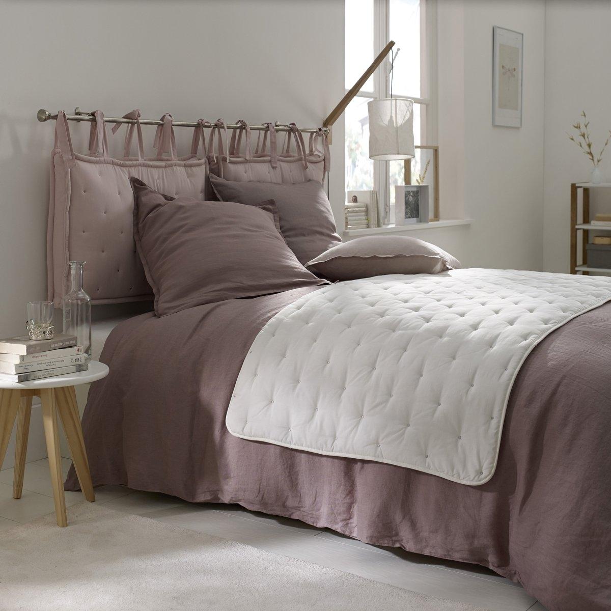 Покрывало La Redoute С вышивкой AERI 80 x 200 см белый подушка набивная для изголовья кровати aeri