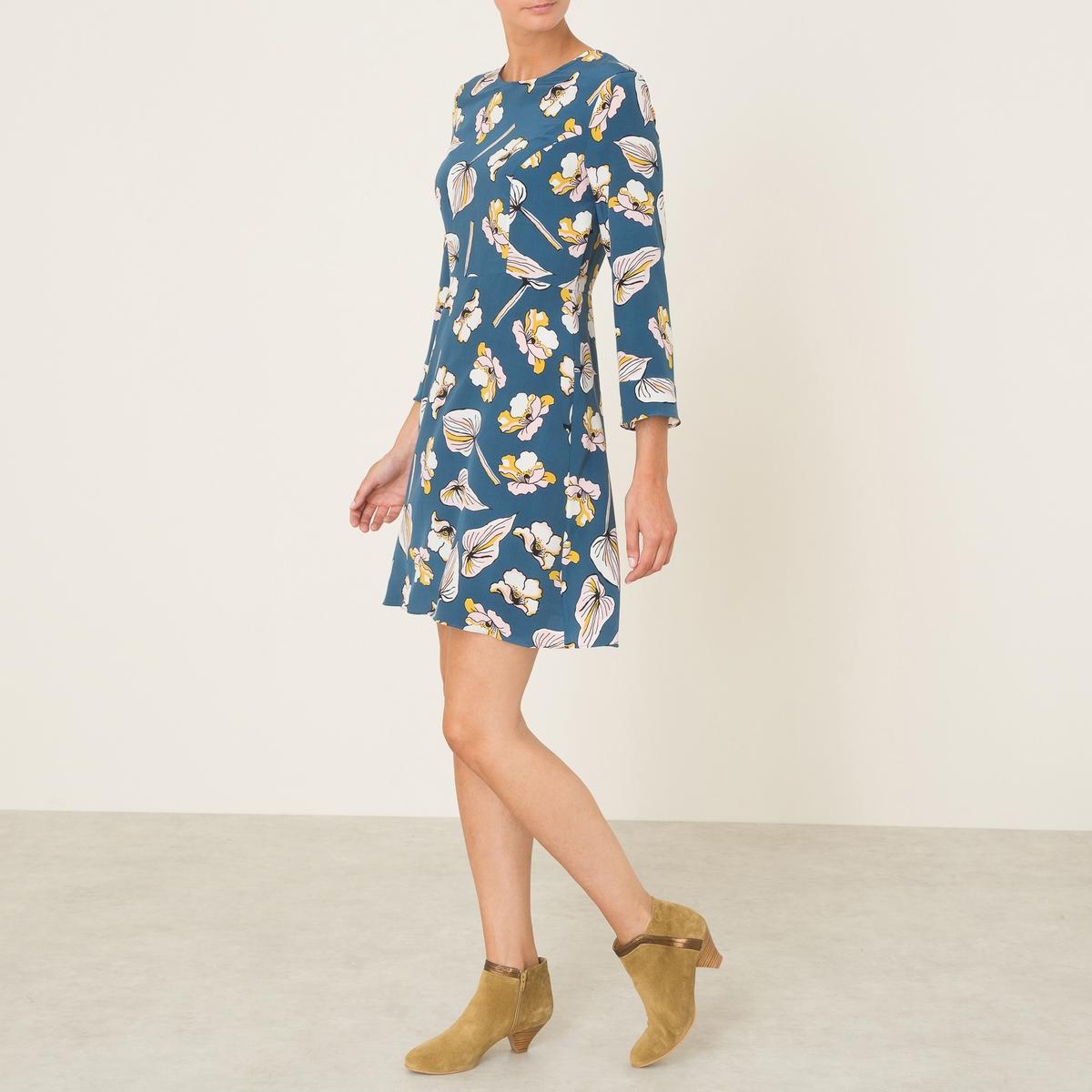Платье PLUMEСостав и описание    Материал : 100% шелк   Марка : ANNA STUDIO<br><br>Цвет: разноцветный<br>Размер: S