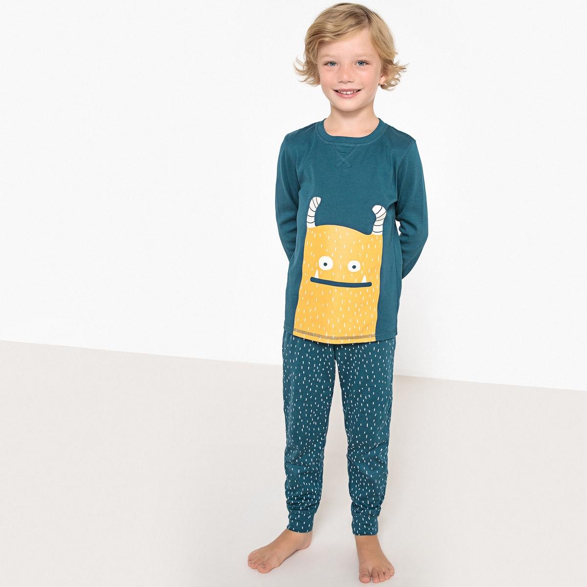 Пижама с фосфоресцирующим рисунком монстр, 3-12 лет