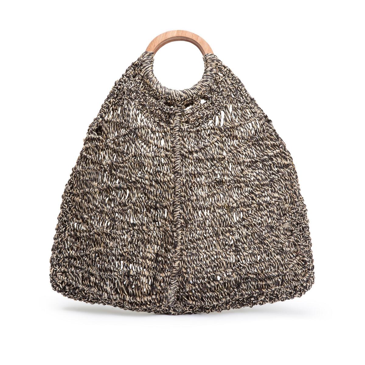 Фото - Сумка-шоппер LaRedoute Из джута AGNES единый размер черный сумка шоппер laredoute из льна с блесками единый размер синий