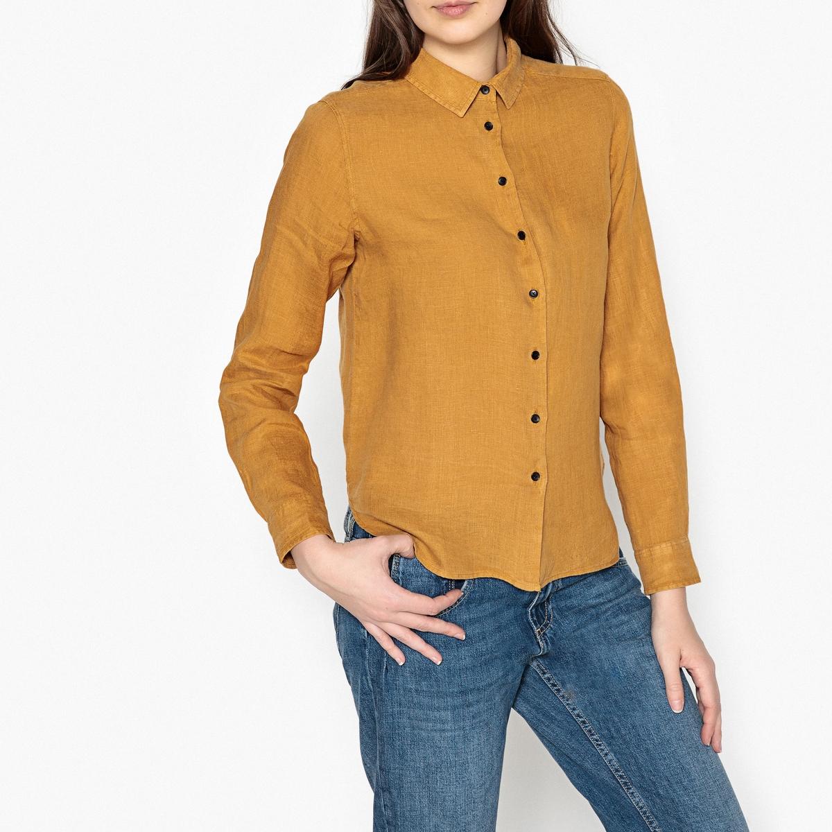 Рубашка прямая из льна LINDA рубашка harris wilson harris wilson ha019emqpi74