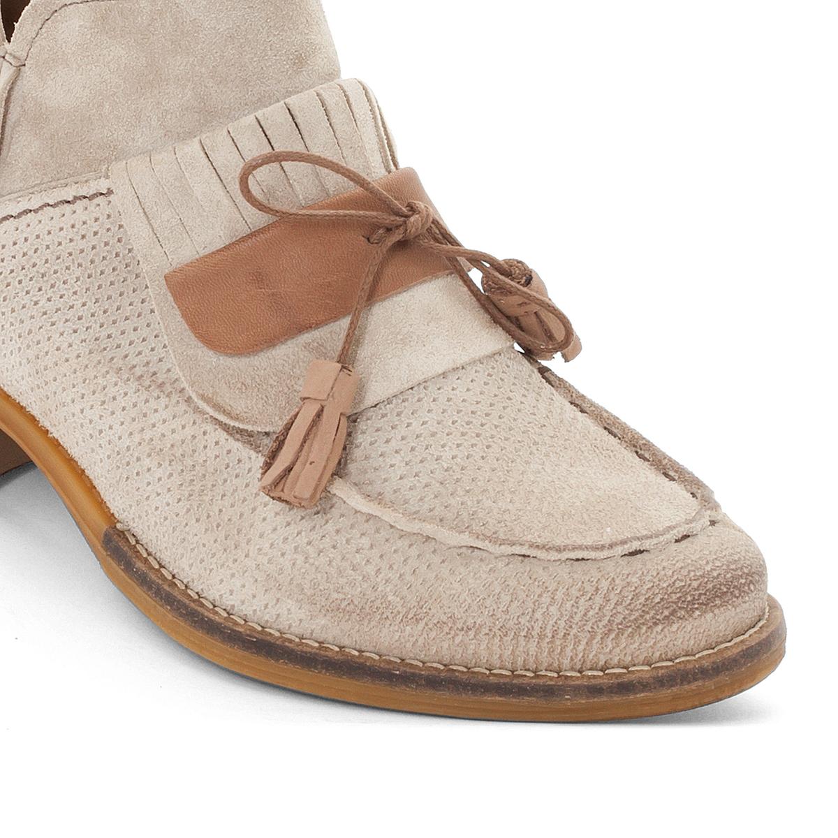 Ботильоны кожаные PorterВерх : кожа   Подкладка : кожа   Стелька : кожа   Подошва : резина   Высота каблука : 1,5 см   Форма каблука : плоский каблук   Мысок : закругленный мысок  Застежка : молния<br><br>Цвет: серо-коричневый<br>Размер: 38