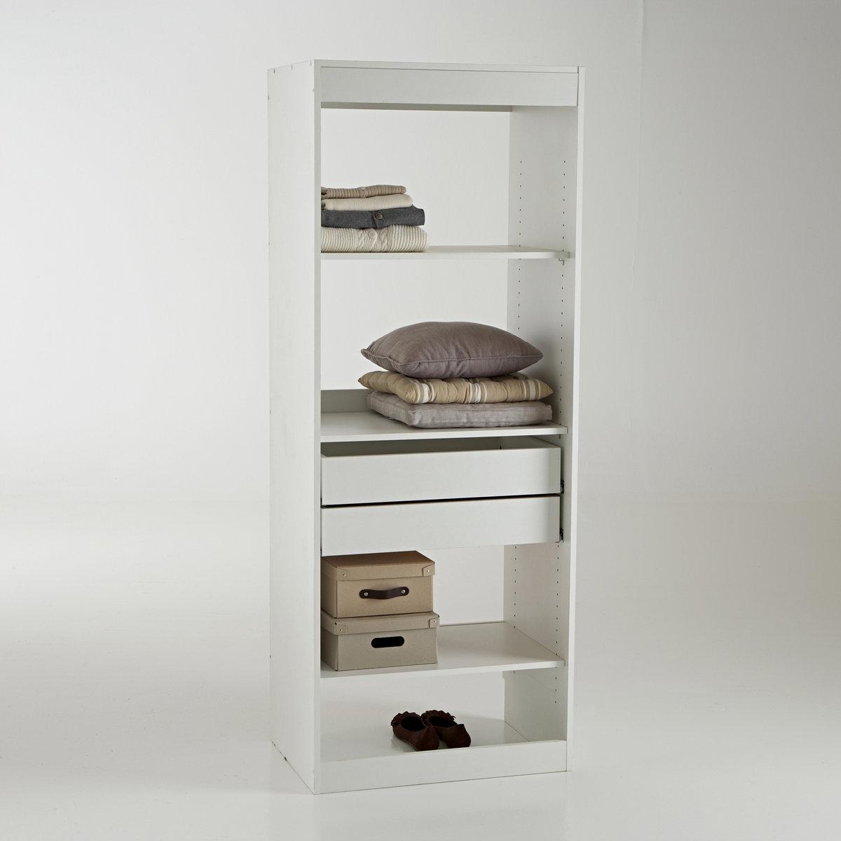 Модуль гардероба с 3 полками и 2 ящиками Build