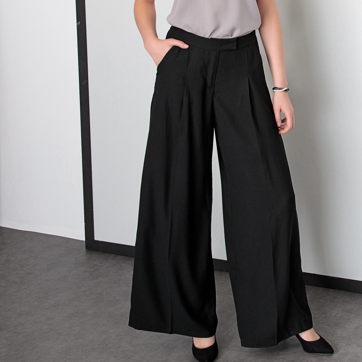 Imagen adicional de producto de Pantalón urbano ancho de sarga stretch - Anne weyburn
