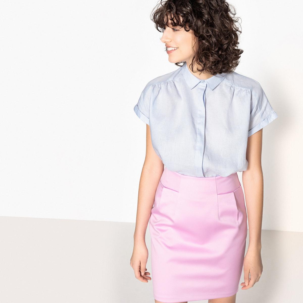 Рубашка с короткими рукавами, 100% льна цена 2017