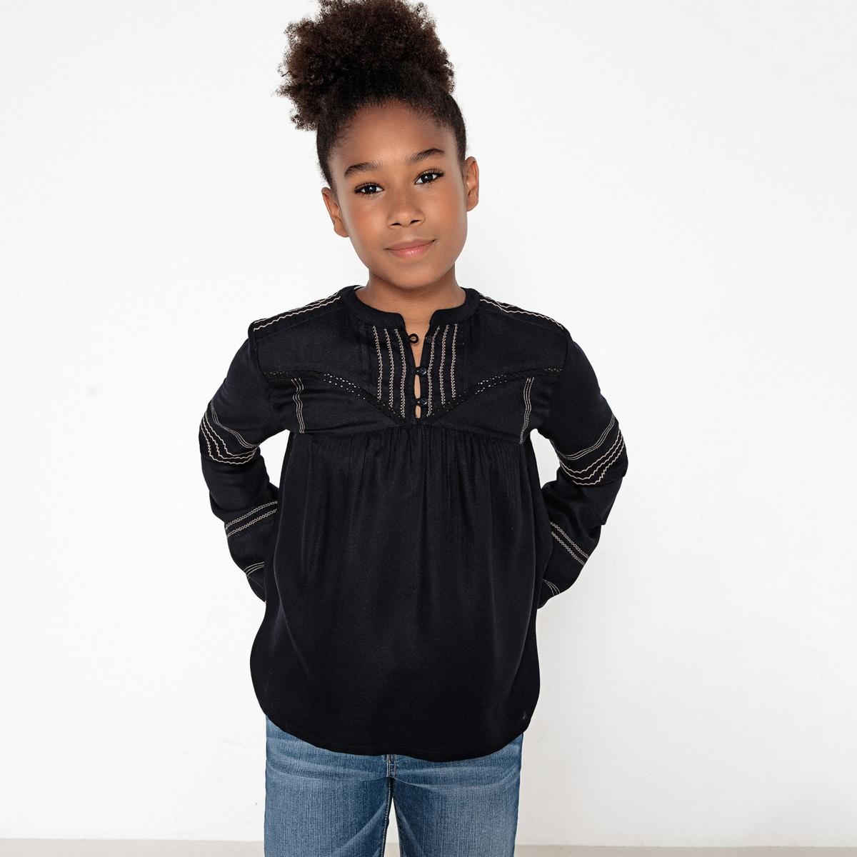 Рубашка в стиле фолк, 10-16 лет блузка с вышивкой в стиле фолк