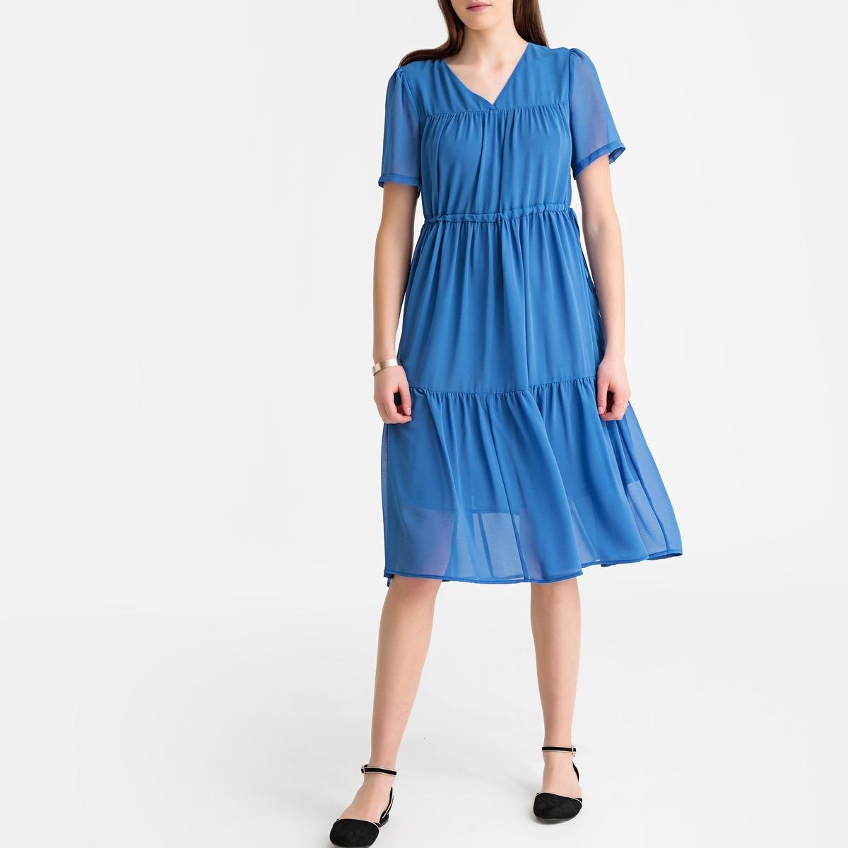 Платье La Redoute Длинное с короткими рукавами M синий батарея gp super alkaline 15a lr6 aa 10шт