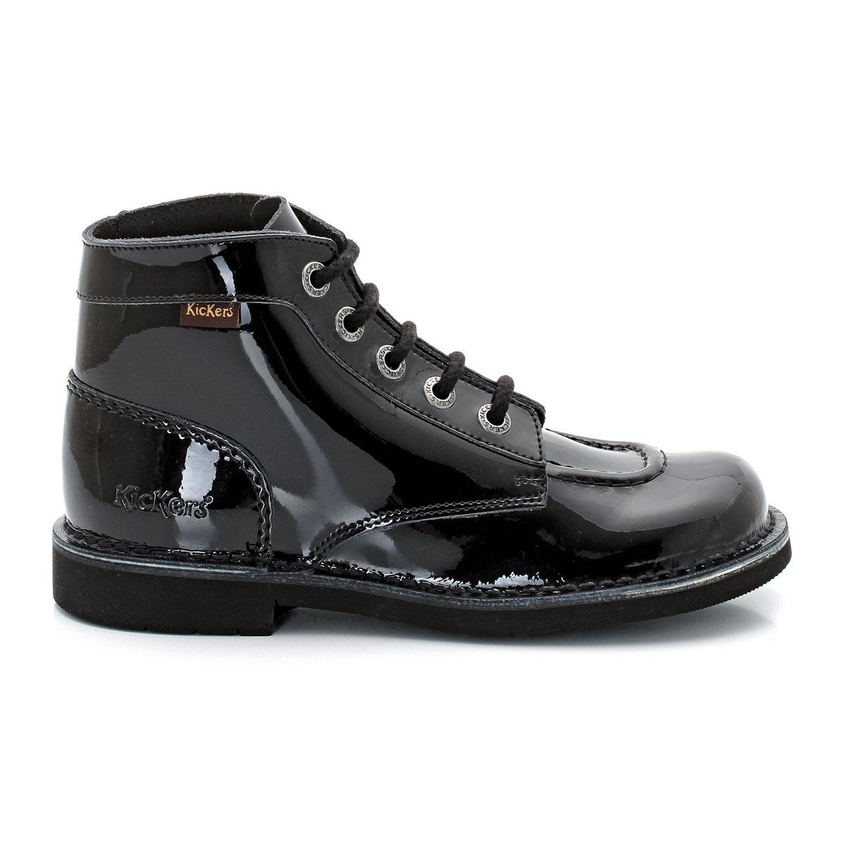 Ботинки Kick Col PermБотинки Kick Col Perm от KICKERSВерх : лакированная кожаПодкладка : шнуровкаСтелька : кожа Подошва : каучук.Высота каблука : 8 см<br><br>Цвет: Черный лак<br>Размер: 36.37.40