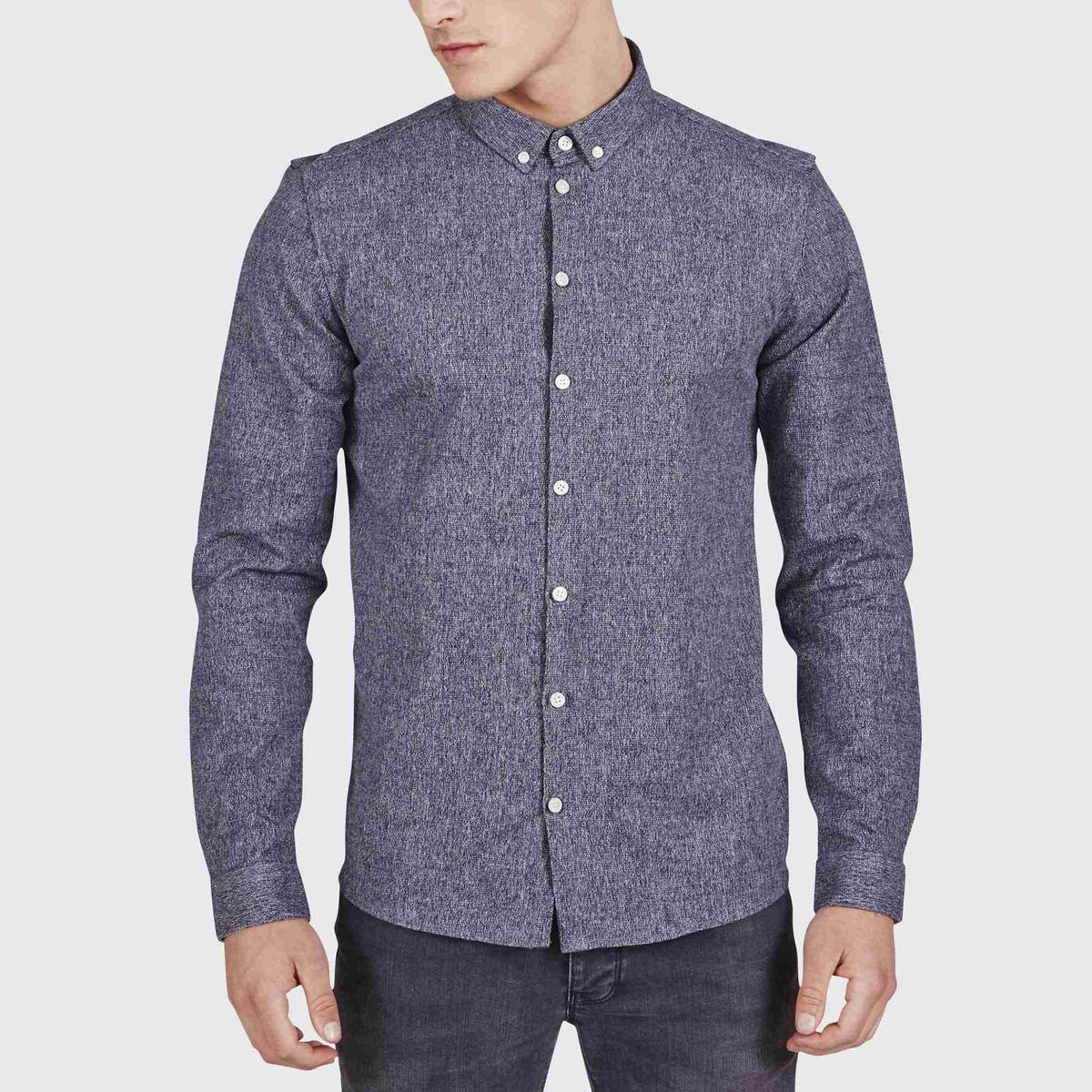 Рубашка CrescentСостав и описаниеМатериал: 60% хлопка, 38% полиэстера, 2% купроволокнаМарка:        MINIMUM<br><br>Цвет: темно-синий<br>Размер: L