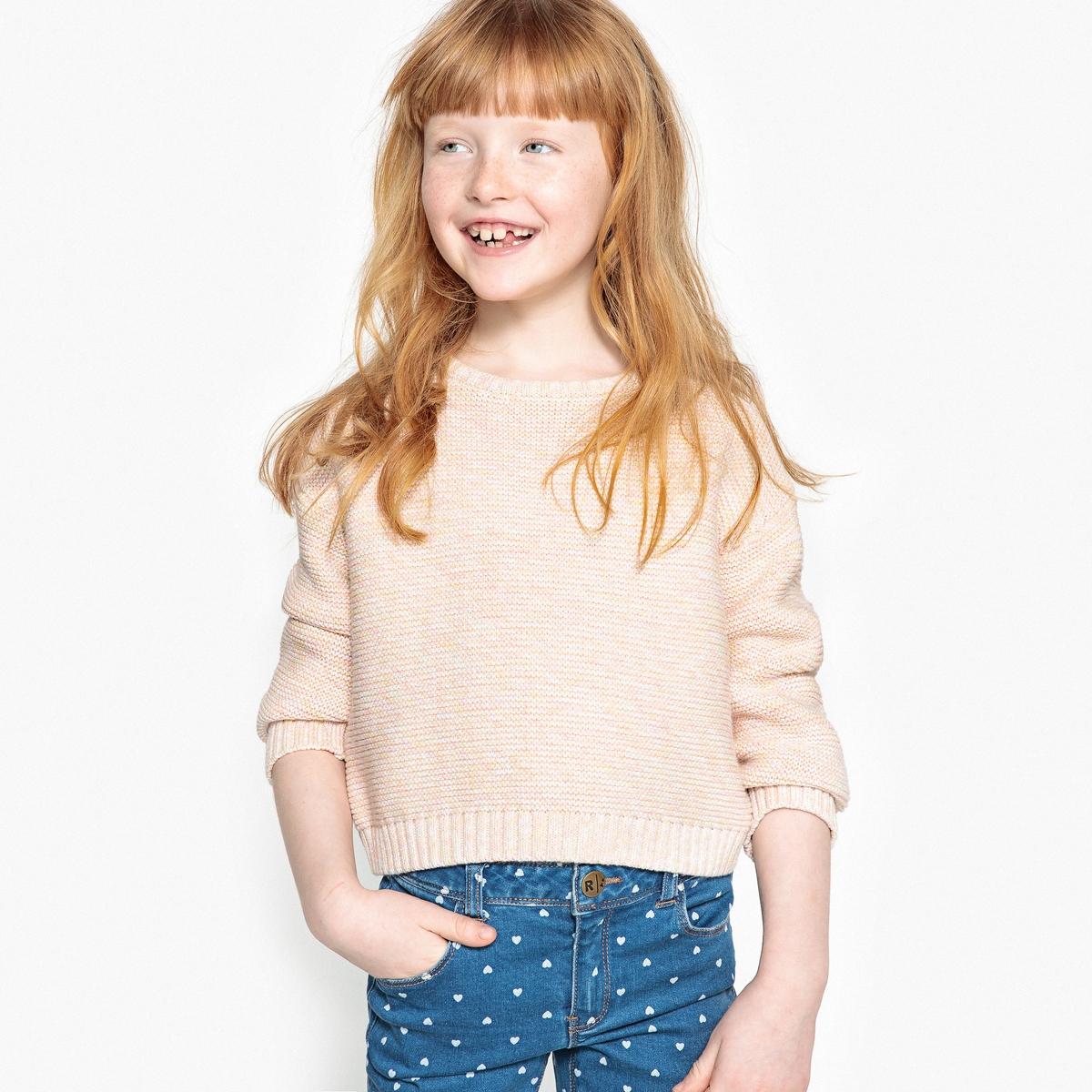 Sweter z okrągłym dekoltem, włóczka cieniowana, 3-12 lat