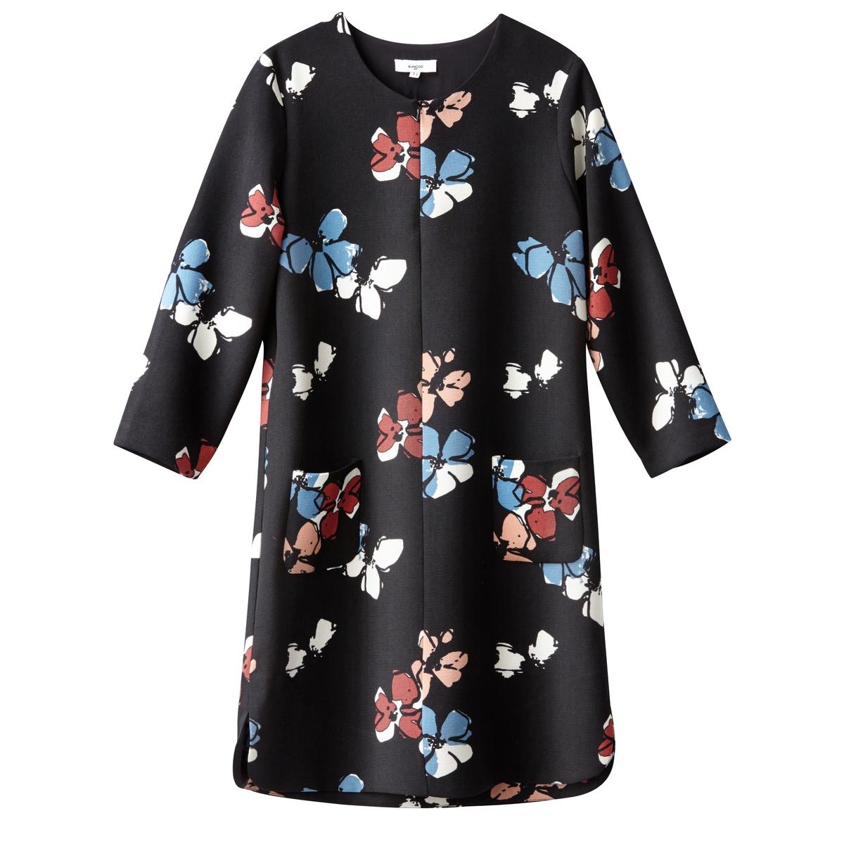 Платье с рисунком ROBE CONSTANCEПлатье с длинными рукавами ROBE CONSTANCE от SUNCOO. Платье прямого покроя на подкладке. Цветочный рисунок. Круглый вырез. Состав и описание :Материал : 100% полиэстер. Подкладка 100% растительные волокнаМарка : SUNCOO<br><br>Цвет: цветочный рисунок