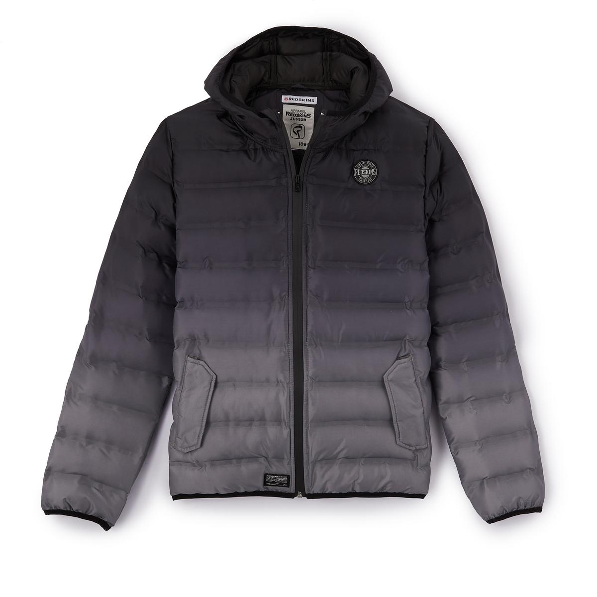 Куртка стеганая с капюшоном 10 - 16 летОписание:Детали •  Зимняя модель •  Непромокаемая •  Застежка на молнию •  С капюшоном •  Длина : удлиненная модельСостав и уход  •  Следуйте советам по уходу, указанным на этикетке<br><br>Цвет: черный/серый<br>Размер: 12 лет -150 см