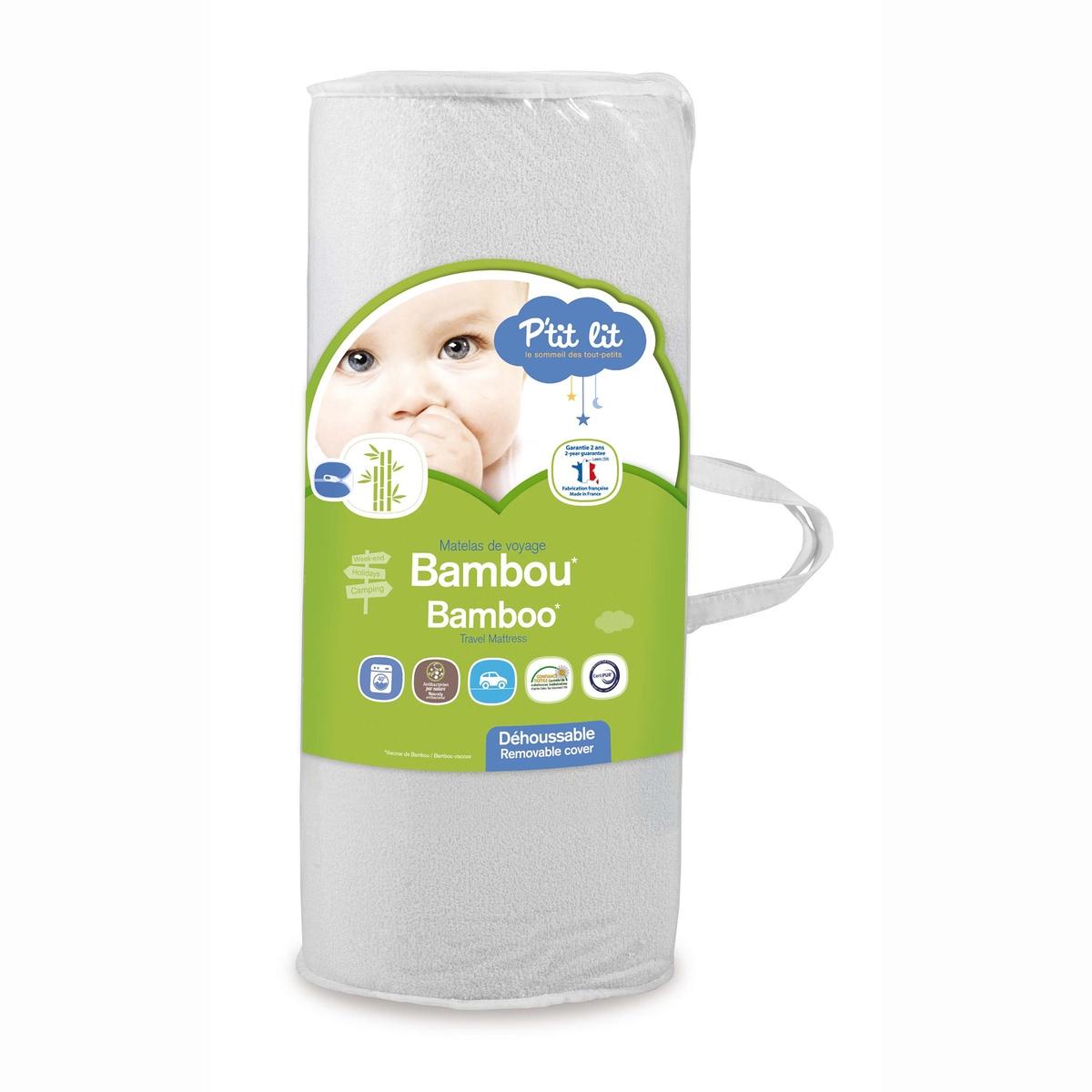 Матрас для перевозки детский - P'TIT LITЭтот матрас облегчит перевозку малыша и обеспечит максимальный комфорт . Съемный чехол, который можно стирать, облегчает уход за матрасом .Характеристики матраса  P'TIT LIT                      Полиуретановый наполнитель 18кг/м3.Бамбуковая вискоза и полиэстеровый подвес .   Непромокаемый материал, съемный чехол, который можно стирать . Биоцидная обработка .         Разм. : 120 x 160 x 4 см, толщина 4 см<br><br>Цвет: белый