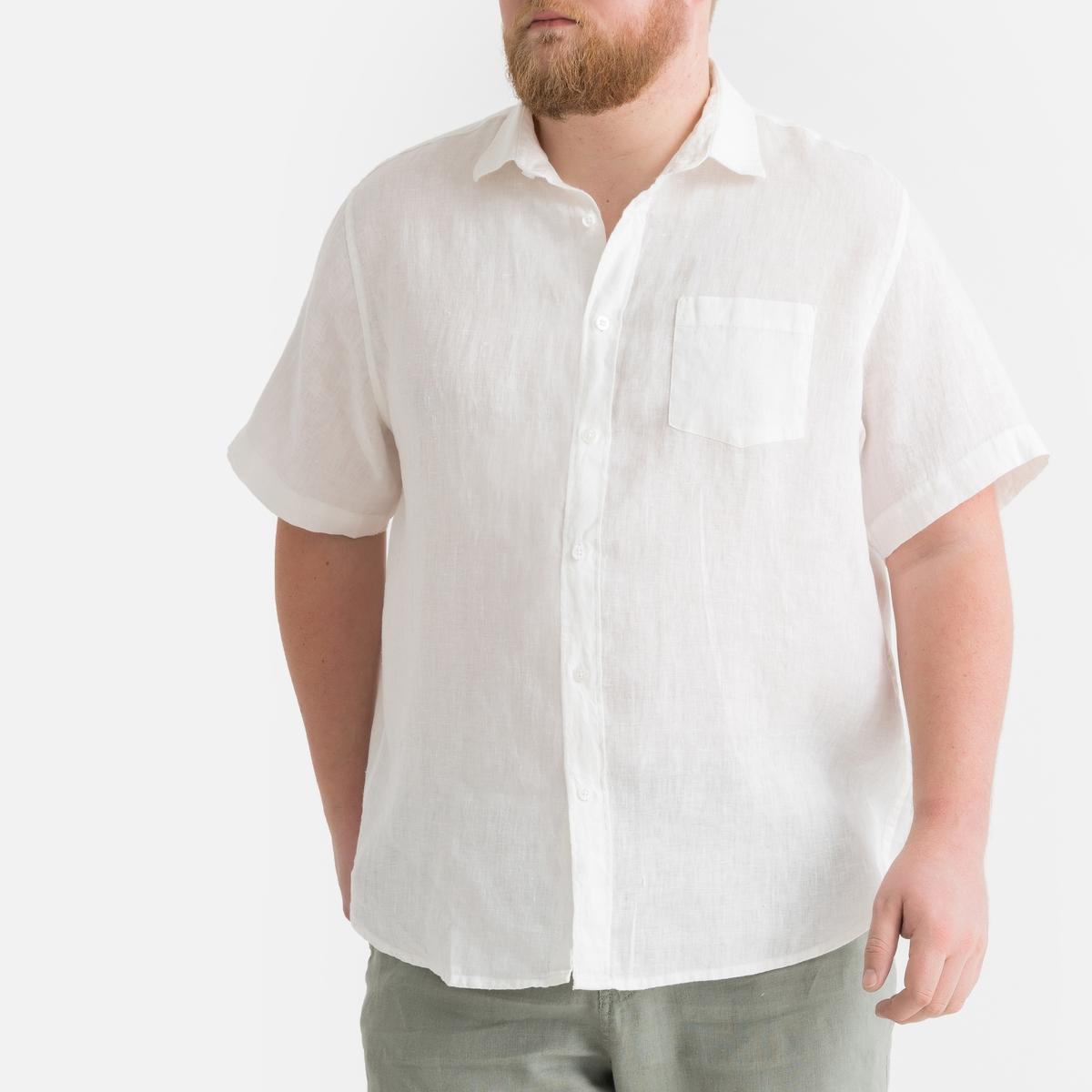 Рубашка LaRedoute Из льна 55/56 белый