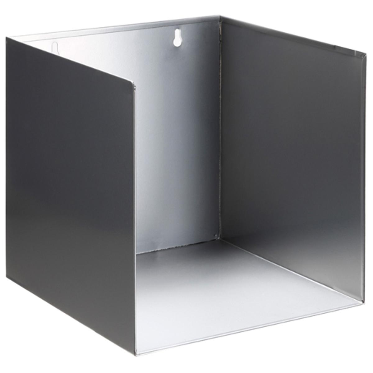 Полка настенная Torana (комплект из  2)Невероятно практичные полки подойдут для вашей домашней библиотеки . Для спальни, прихожей, гостиной...повсюду! .Гальванизированный металл, необработанный или с эпоксидным покрытием . Размеры. : 25 x 25 x 25 см .выдерживает вес до  5 кг.                                                                Добро пожаловать в мир стиля AM.PM.<br><br>Цвет: серый