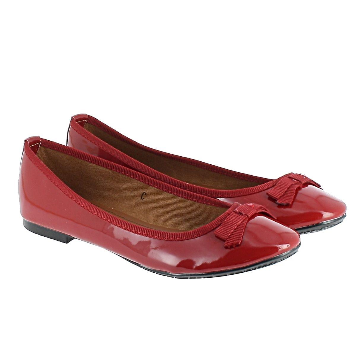 Ballerines Marjo, rouge verni