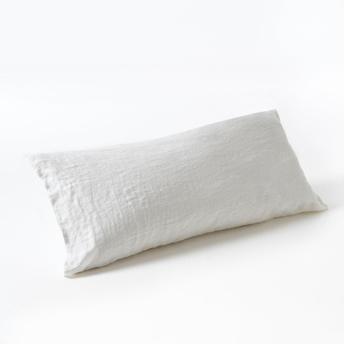 Наволочка на подушку-валик из 100% льна, ElinaНаволочка на подушку-валик из осветленного льна Elina, прохладная летом, комфортная зимой, сочетает в себе аутентичность, комфорт и элегантность... Откройте палитру современных оттенков и сочетайте их по желанию . 100% льна. Ткань с легким жатым эффектом не требует глажки, проста в уходе, становится более мягкой и нежной с течением времени.Состав :- 100% льна.Уход :- Машинная стирка при 40°.Размеры на выбор :Подходит для круглых и плоских подушек-валиков.90   : Длина 90 см 140 : длина 140 см160 : длина 160 см Сертификат Oeko-Tex® дает гарантию того, что товары изготовлены без применения химических средств и не представляют опасности для здоровья человека.<br><br>Цвет: антрацит,белый,красно-коричневый,серо-бежевый,серый,темно-синий<br>Размер: 90 см