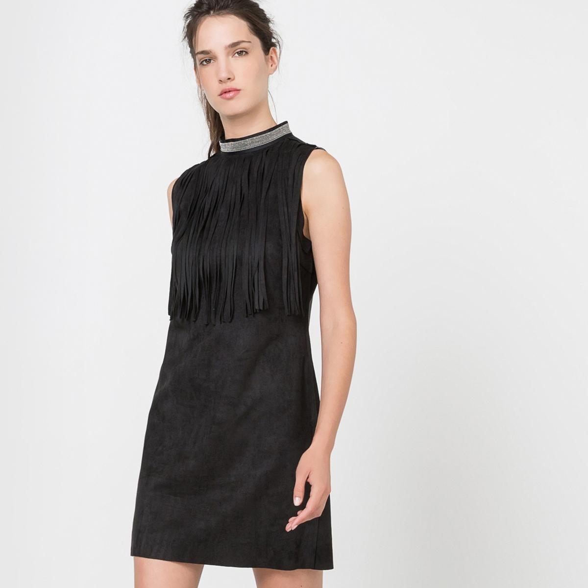 Платье без рукавовСостав и описаниеМатериал: 100% полиэстер.Марка: MOLLY BRACKEN.УходСтирать при 30°C с вещамиподобныхцветов.Стирать и гладить с изнанки.<br><br>Цвет: черный<br>Размер: XS