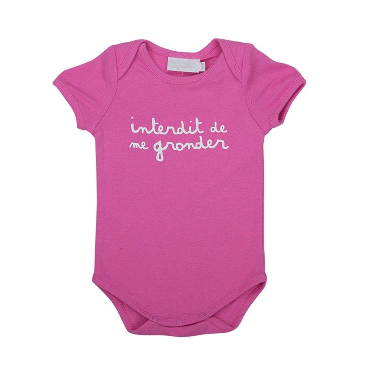 Vêtement bébé Fille/Bodys Bébé Fille Petit interdit