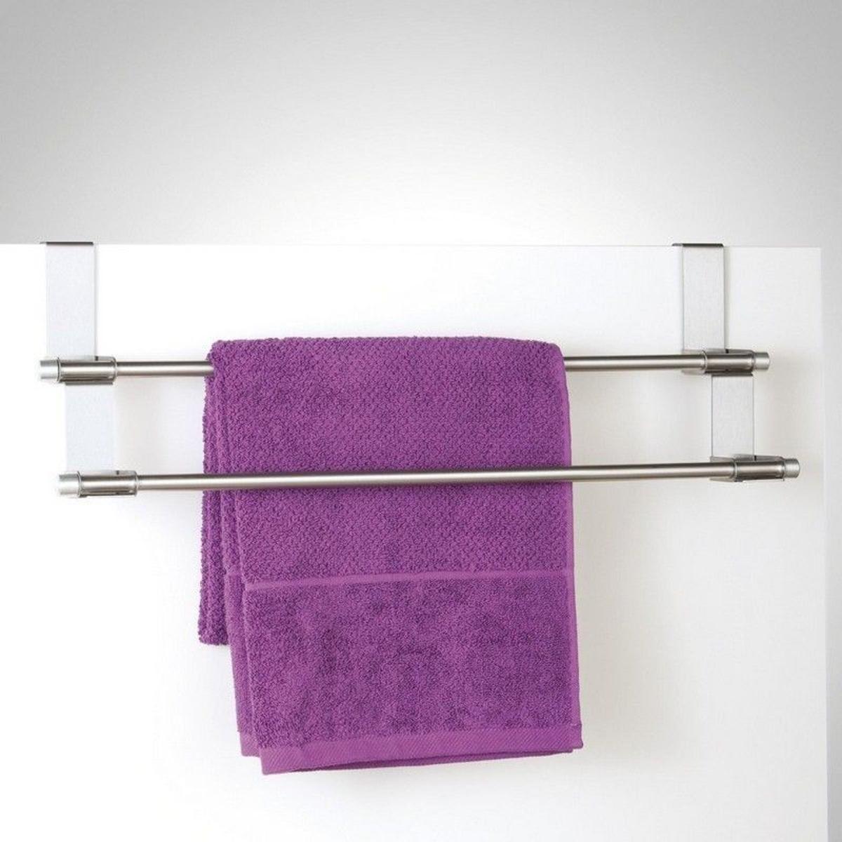 Porte-serviette pour dessus de porte acier  zeller