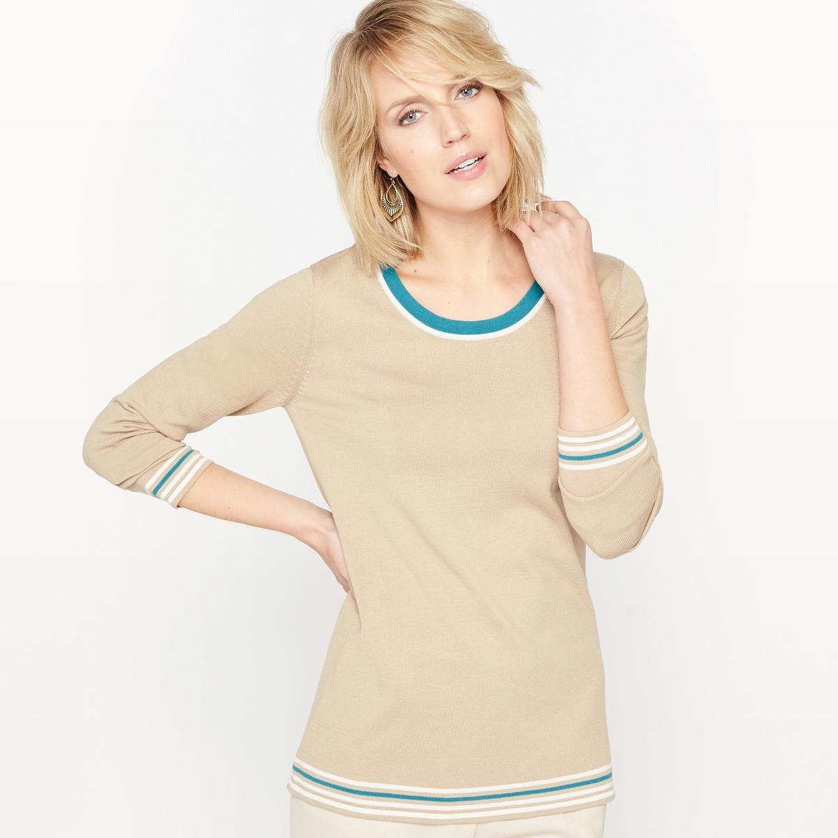 Пуловер  из хлопка и модала