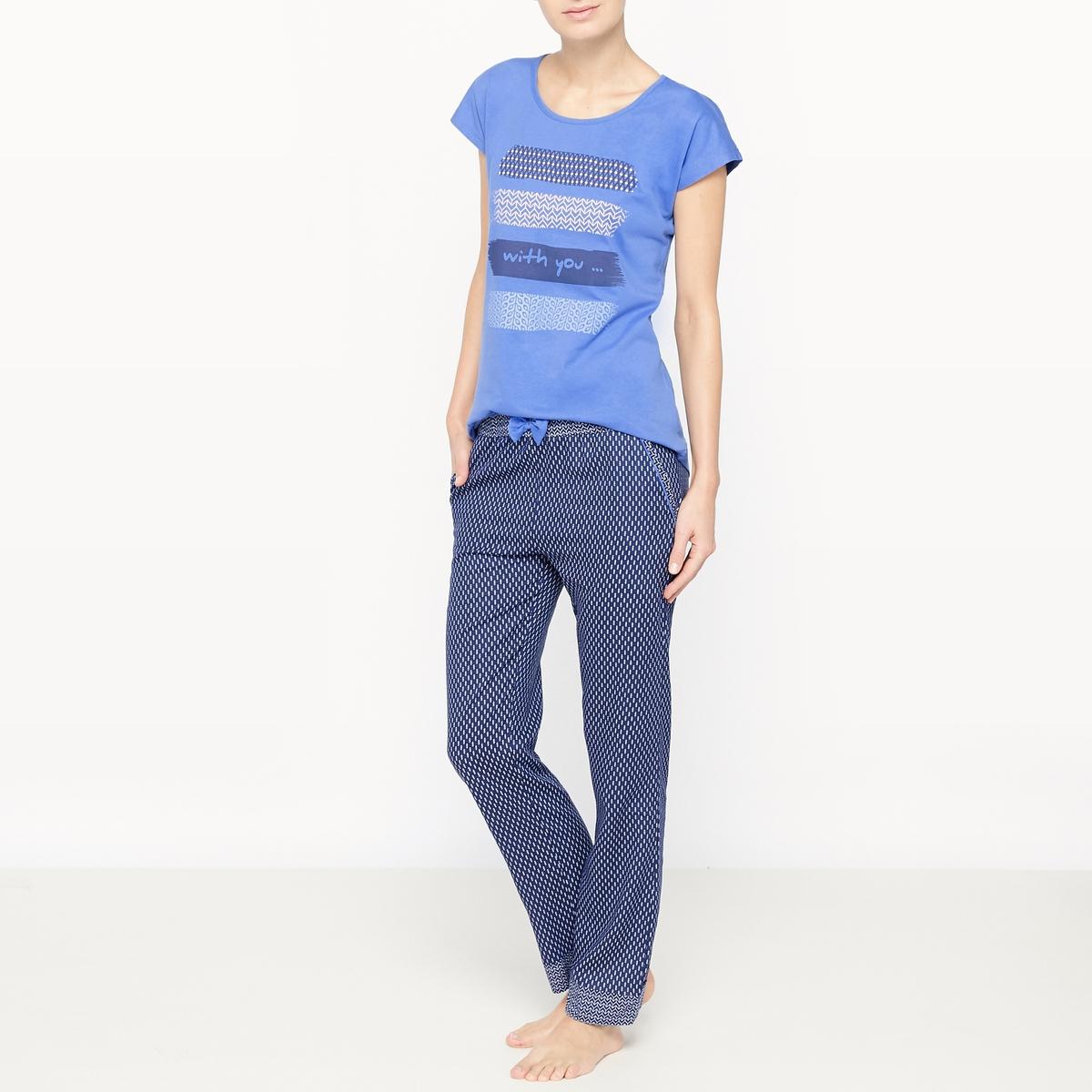 Пижама с длинными рукавами IndigoСостав и описание :Материал : 100% хлопокМарка : Dodo Уход :Машинная стирка при 30 °C с вещами схожих цветов<br><br>Цвет: синий<br>Размер: L