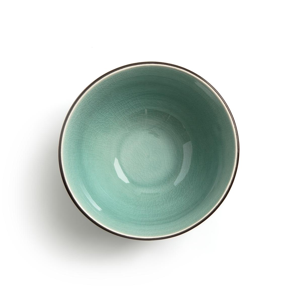 Комплект из 2 чашек из керамики, покрытой глазурью, Sonequa2 чашки Sonequa. Чайные чашки в азиатском стиле, которые также можно использовать для аперитива или десерта. Их отделка в виде сети искусственных трещин с перламутровым эффектом добавит аутентичности и очарования.Характеристики : - Из керамики, покрытой глазурью, с отделкой в виде сети искусственных трещин- Можно использовать в посудомоечных машинах и микроволновых печах- Поставляет в коробке черного цветаРазмеры :- ?12 x В.6 см<br><br>Цвет: изумрудный