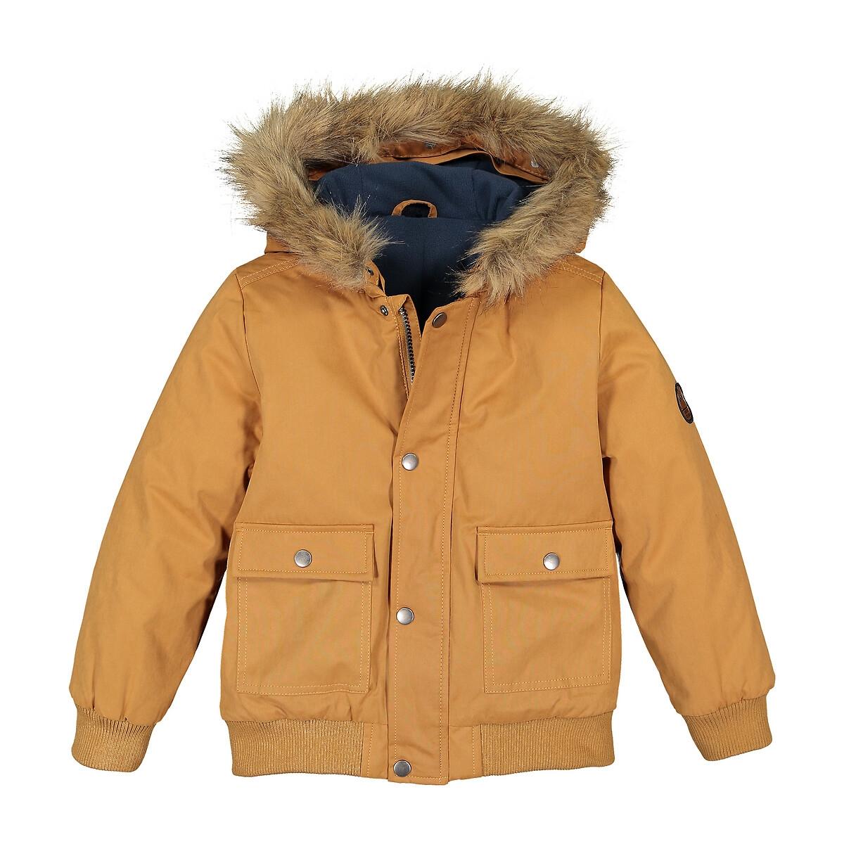 Blusão quente, com capuz, forro polar, 3-12 anos