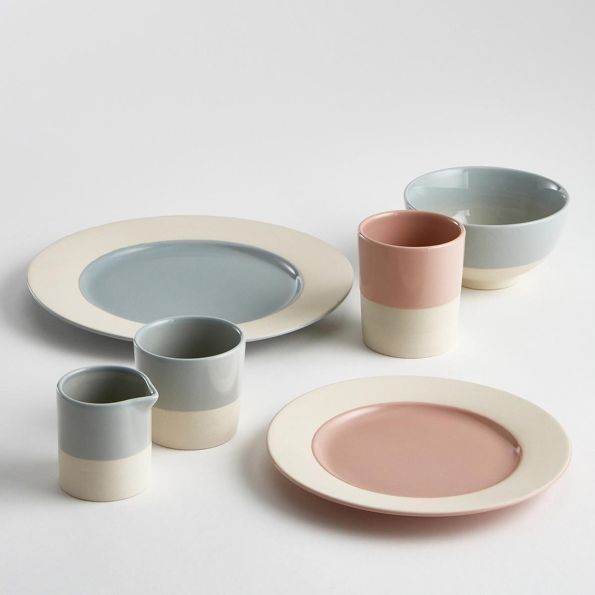 Комплект из 4 мелких тарелок из керамики WarotaДесертная тарелка Warota отличается строгим и аутентичным дизайном и двухцветной расцветкой, что обеспечивает сочетание с любым стилем внутреннего декора.Характеристики 4 двухцветных мелких тарелок Warota :Из керамики.Края из матовой керамики.Размеры 4 двухцветных мелких тарелок Warota :Диаметр. 25 см.Цвета 4 двухцветных мелких тарелок Warota :Керамика без глазури / розовый.Керамика без глазури / синий.Другие тарелки и предметы декора стола вы можете найти на сайте laredoute.ru<br><br>Цвет: розовая пудра