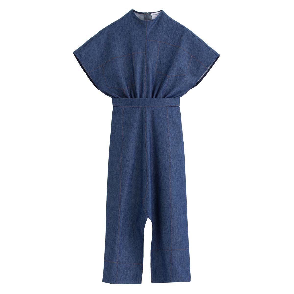 Robe longue en jean, sans manches