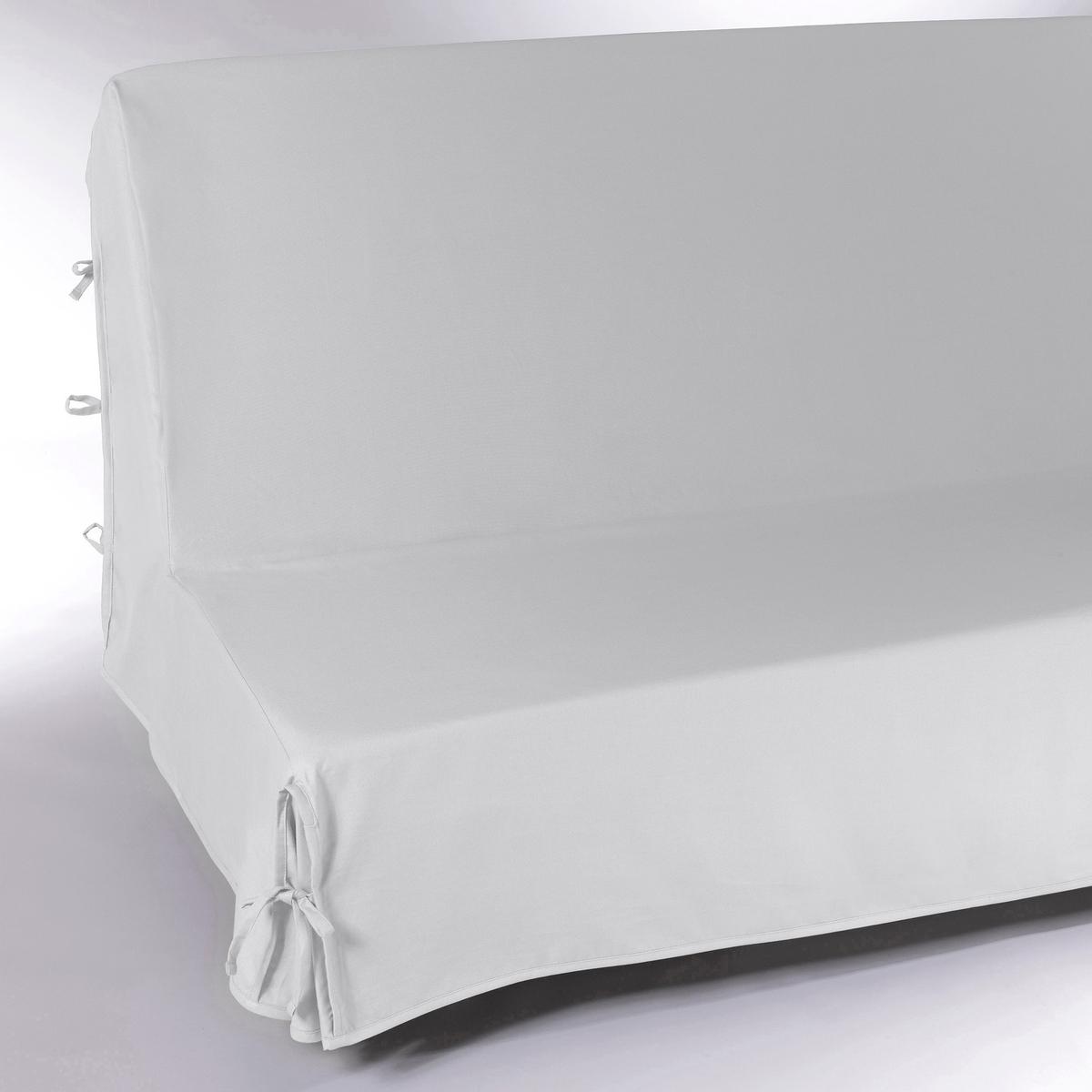 Чехол для дивана-книжкиЧехол для дивана-книжки из 100% хлопка, широкая гамма ультрасовременных цветов. Подарите новую жизнь дивану ! Характеристики чехла для дивана-книжки:Чехол для дивана-книжки из красивого плотного материала, 100% хлопок (220 г/м?), есть 13 цветов.Полностью закрывает диван включая спинку:: удобные клапаны фиксируются завязками.Простой уход : стирка при 40°, превосходная стойкость цвета.Обработка против пятен.       Размеры чехла для дивана-книжки : Ширина : 190 см, Глубина: 65 см. Для спального места от 120 до 136 см в разложенном состоянии.Качество Valeur S?re.              Сертфикат Oeko-Tex® дает гарантию того, что товары изготовлены без применения химических средств и не представляют опасности для здоровья человека.<br><br>Цвет: антрацит,белый,медовый,облачно-серый,рубиново-красный,серо-коричневый каштан,сине-зеленый,синий индиго,сливовый,черный,экрю<br>Размер: единый размер.единый размер.единый размер.единый размер.единый размер