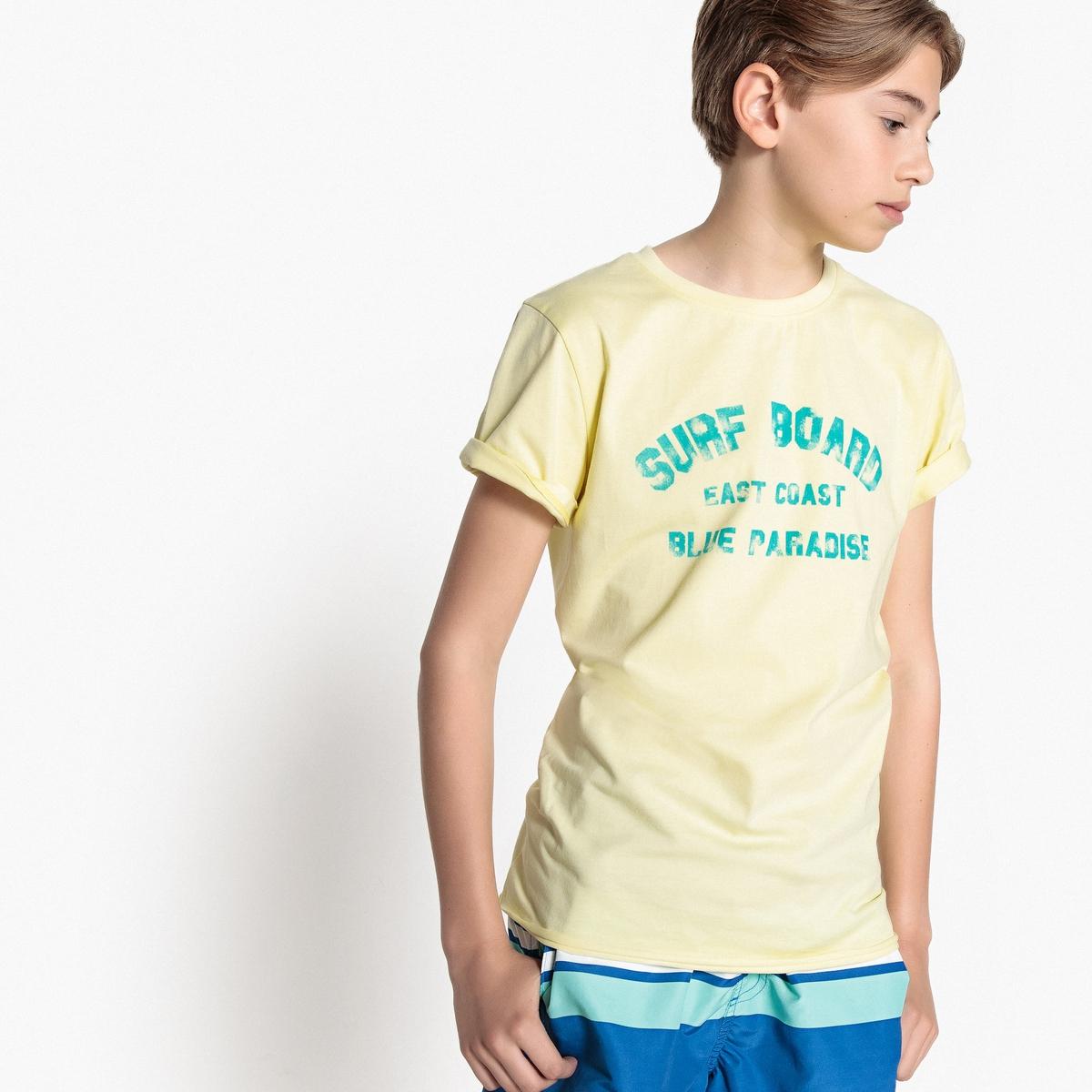 Футболка с круглым вырезом и принтом 10-16 лет футболка с принтом кактус 10 16 лет