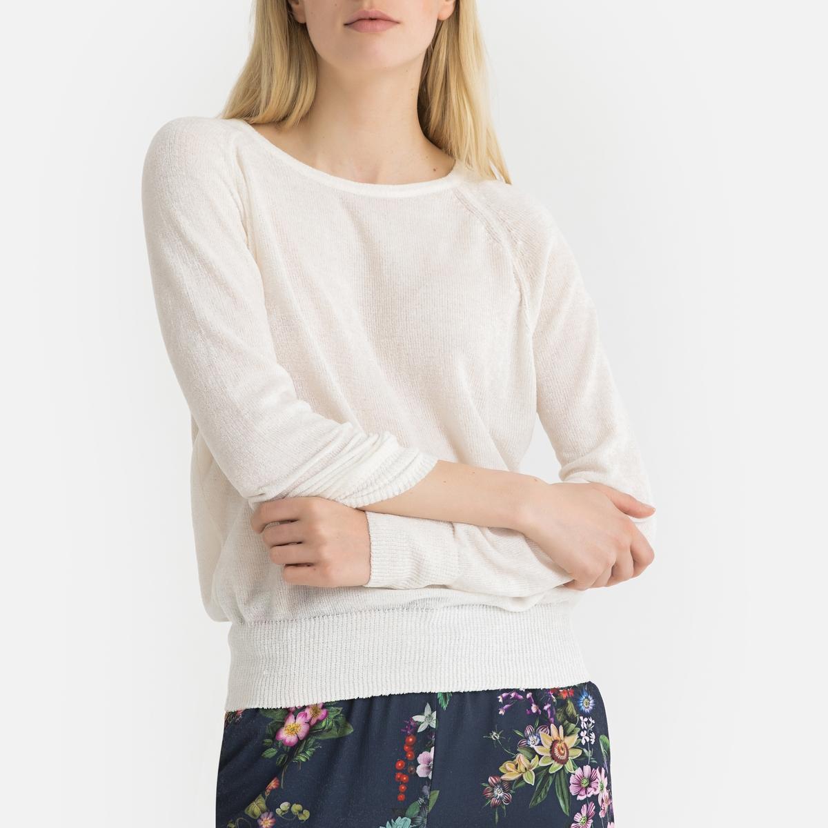 Пуловер La Redoute С круглым вырезом из тонкого трикотажа DOUXY L бежевый пуловер la redoute с круглым вырезом из плотного трикотажа 3xl бежевый