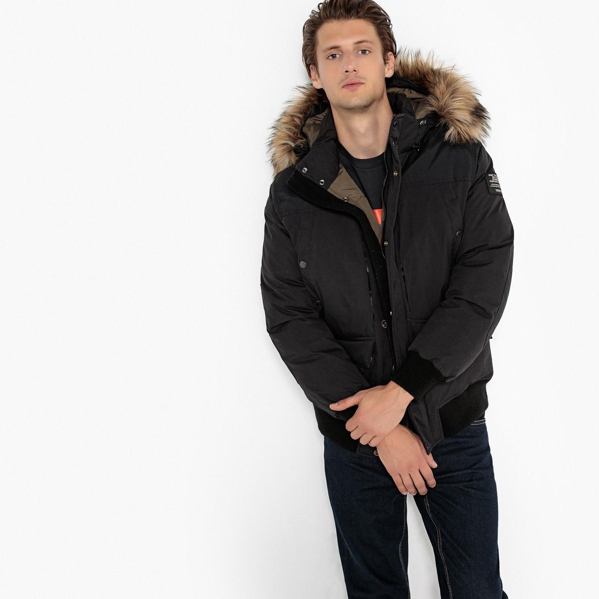 Парка La Redoute Короткая с капюшоном TORONTO XL черный пальто la redoute из меха с капюшоном gabonback l синий