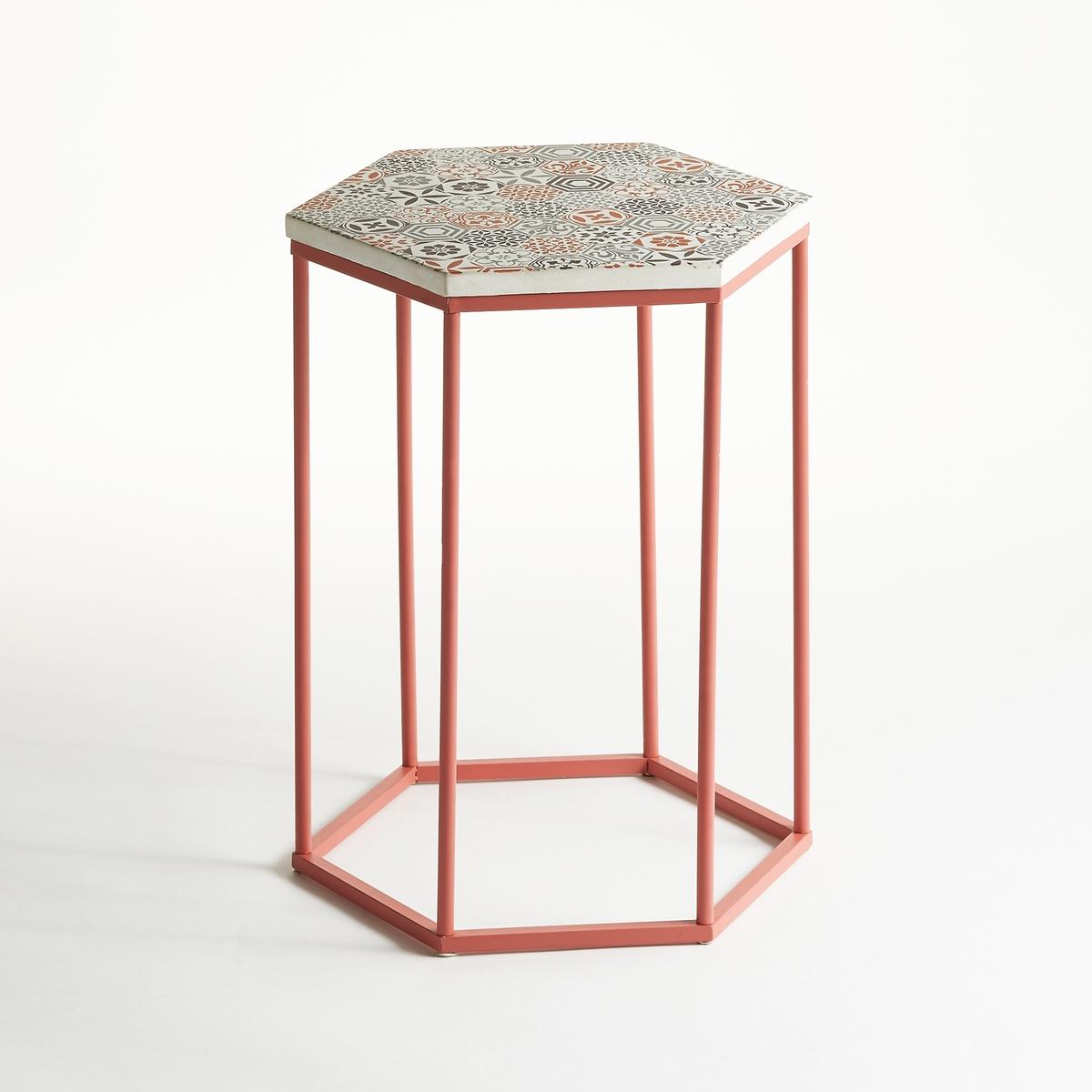 Столик журнальный круглый на одной ножке с керамической столешницей, Topim