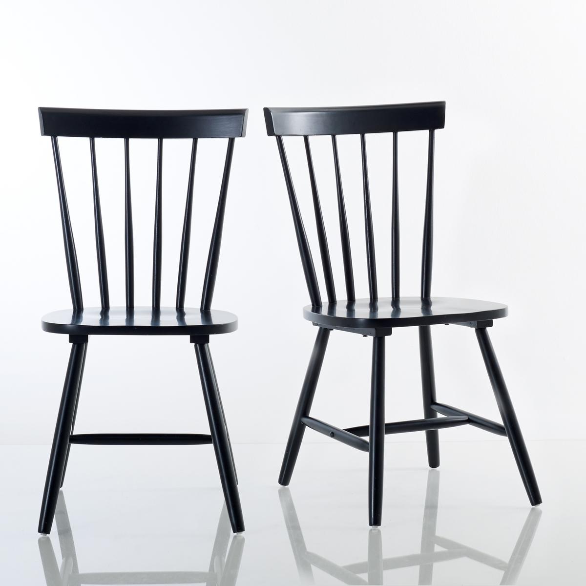 2 стула с перекладинами из массива гевеи, JIMI