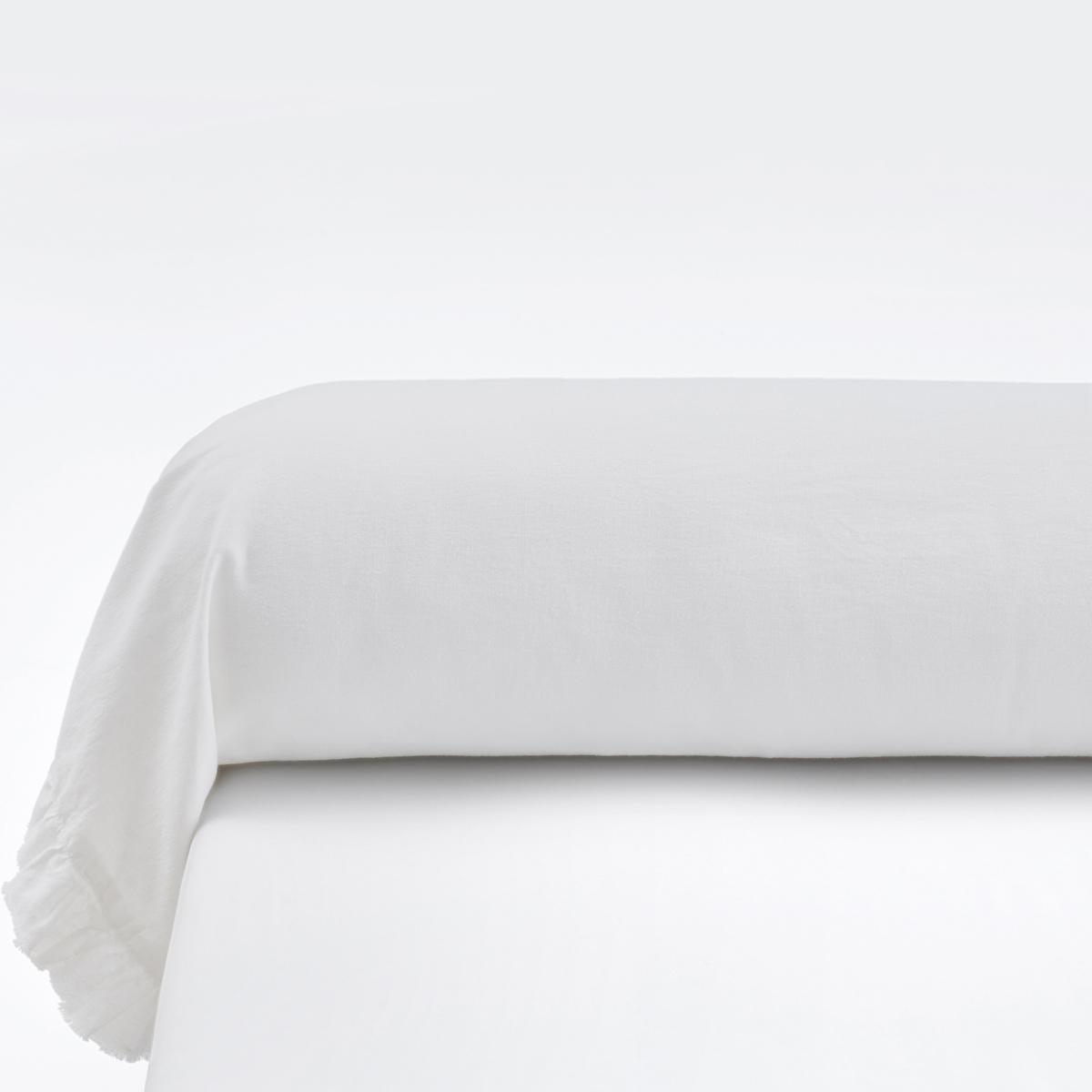 Наволочка La Redoute Однотонная на подушку-валик из льна и хлопка NILLOW 85 x 185 см белый чехол la redoute на подушку валик с ручной вышивкой domitien 40 x 40 см розовый