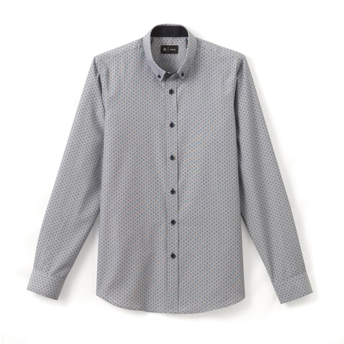 Рубашка узкого покроя из хлопка