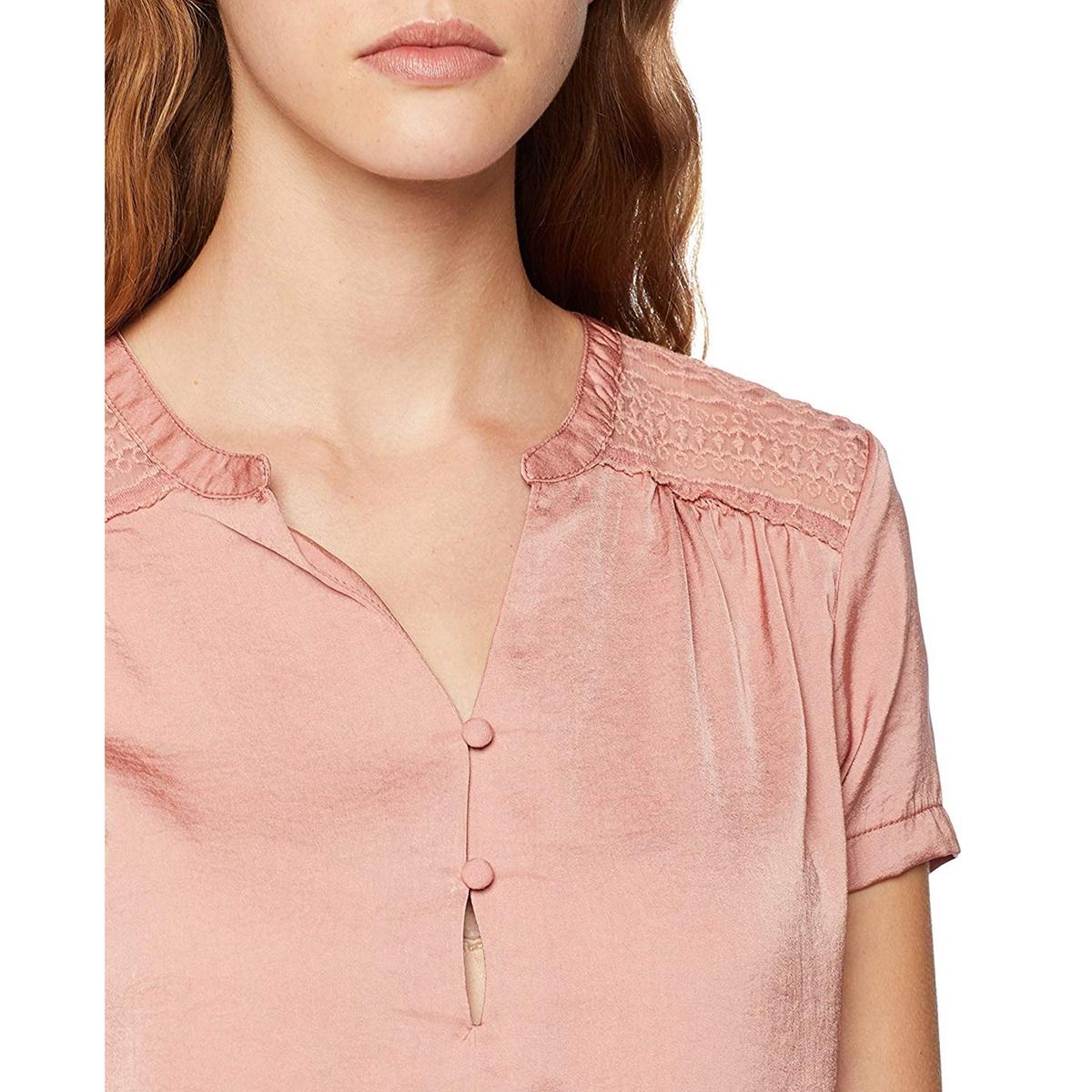 Блузка с тунисским вырезом, ажурной спинкой, короткими рукавами карамелли карамелли блузка для школы с фигурной спинкой белая